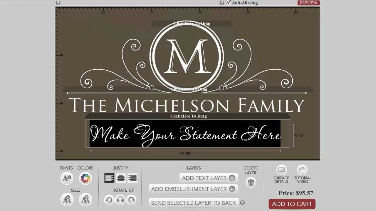 how to design a family monogram wall decal youtube