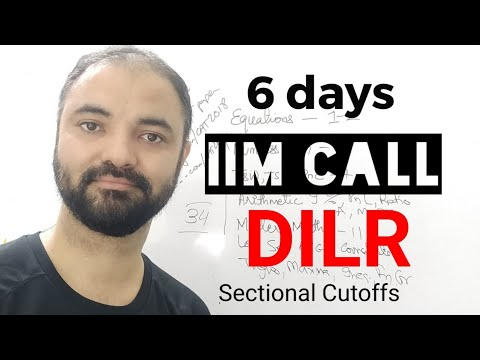 Get IIM Call in 6 days. DILR Section. 6 topics 6 days plan.