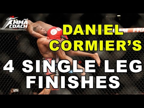 Daniel Cormier's 4 Single Leg Takedown Finishes