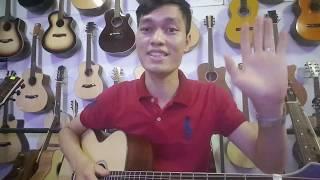 Guitar Acoustic Sài Gòn - gỗ hồng đào nguyên tấm. Mã FS4. Giá 1800k.