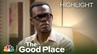 the-gang-calls-bullshirt-when-chidi-s-ex-arrives-the-good-place-episode-highlight