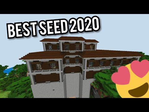 Minecraft Pe 1 14 Best Seed In 2020 Woodland Mansion At Spawn Youtube