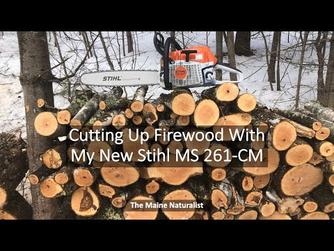 Cutting Firewood With My New Stihl MS 261C-M