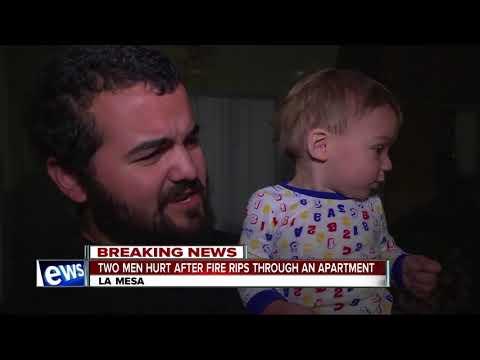 2 men injured after fire burns La Mesa apartment unit