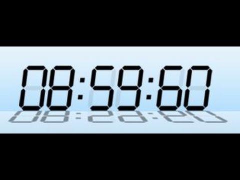 うるう秒時報とうるう秒の説明