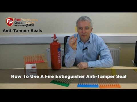How To Use A Fire Extinguisher Anti-Tamper Seal