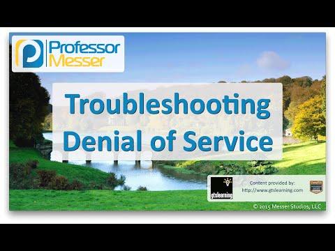 Descargar Video Troubleshooting Denial of Service - CompTIA Network+ N10-006 - 4.7
