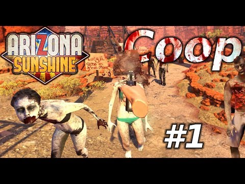 Arizona Sunshine - VR Coop Gameplay #1 - Die Brücke [German]