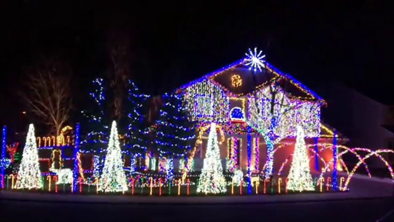 Cadger Dubstep Christmas Light Show 2015 - Jinglestep - YouTube