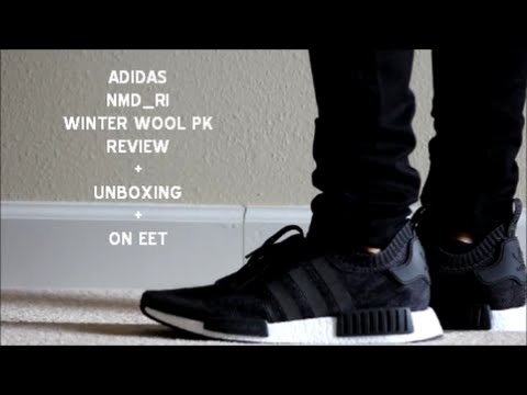 fb6429ffa0fad ADIDAS NMD R1 PK WINTER WOOL UNBOXING + ON FEET   FIRST LOOK ...