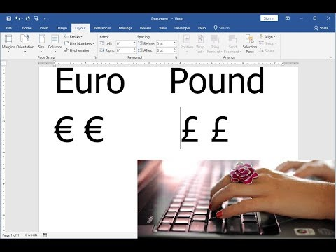 Easy Keyboard Shortcut Key To Insert Euro & Pounds Symbols
