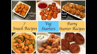 Evening Tea Snack Recipes | Party Appetizers | Veg Starters | Party Food Ideas | BestStarter Recipes