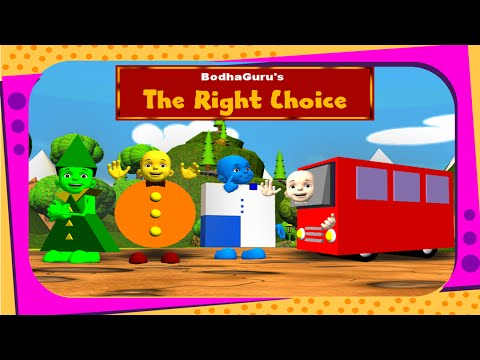 Story on shapes - The right choice - English from YouTube · Duration:  8 minutes 37 seconds