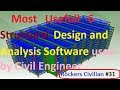 Most Usefull 6 Structural Design And Analysis Software Used By Civil Engineer || Rockers Civilian