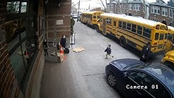 Video shows driver using sidewalk to pass Brooklyn school buses