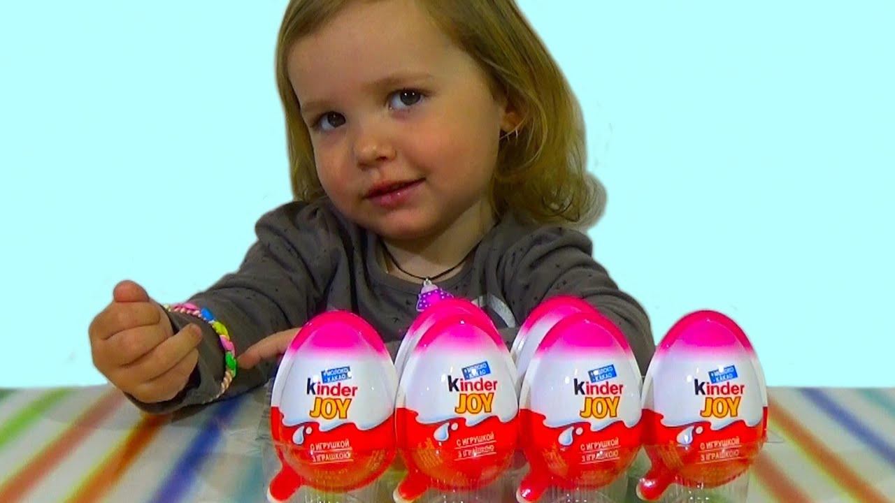 Принцессы Дисней Киндер Джой игрушки распаковка Disney Princess Kinder Joy toys