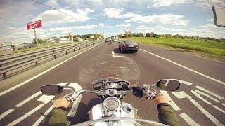 Kawasaki VN2000 Минское шоссе. Пробка.  Страшное ДТП