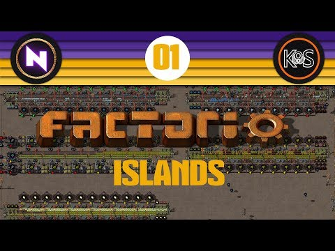 Factorio Islands! Ep 1: GREEN AND YELLOW AND BLUE STUFF