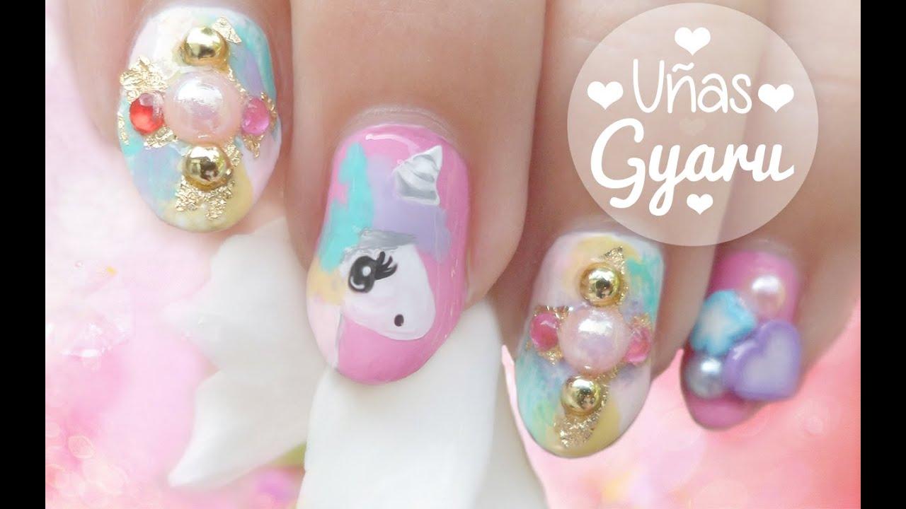 Nail Art , Diseño de uñas Unicornio Tierno Colaboración con Orquídea Style