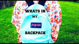What's in My Backpack Thumbnail