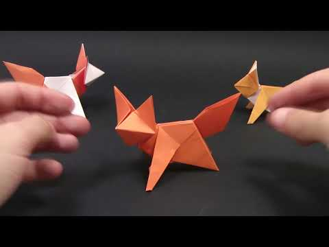 видео: Оригами Лиса - Как сделать из бумаги оригами лису