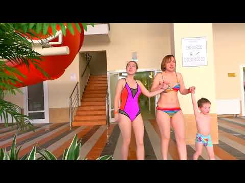 Дети в аквапарке 100%