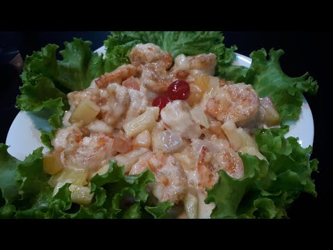 Chinese Style Hot Shrimp Salad