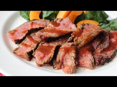 Beerbecue Beef Flank Steak - Grilled Flank Steak with Beer Barbecue Sauce