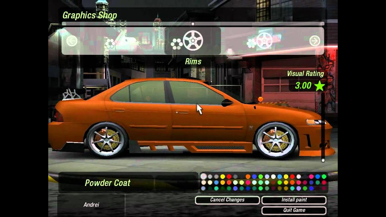 Need for speed u2 tuning на nissan sentra - YouTube