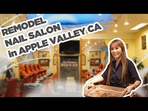 Nails Today Show™ with Di Ai Hong Sam-Remodeling Nail Salon Ep 2A/Red Persimmon in Apple Valley CA