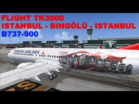 [FSX 2017] LIVESTREAM | TK3000 | FLIGHT FLOG #48 | ISTANBUL - BINGÖL - ISTANBUL | B739 | JOINFS