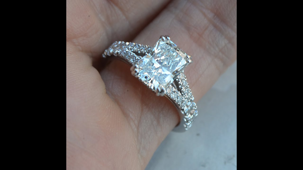 gallery cut rectangular photo for engagement weddingbee of diamond carat radiant rings attachment intended