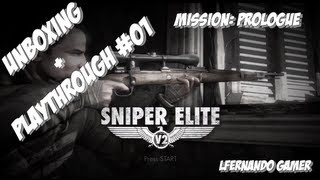 Unboxing Sniper Elite V2 PS3 + Gameplay Playthrough #01 - Missão: Prologue