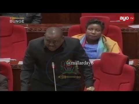 """PROFESA J: """"Haya matatizo yamekuwa mengi"""" NAIBU SPIKA: """"maneno yako ya mwisho yaondolewe kabisa"""""""