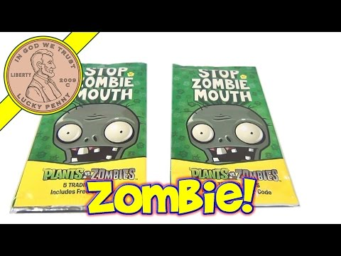 Stop Zombie Mouth 5 Trading Cards - Plants vs Zombies Online Game - PopCap Cards