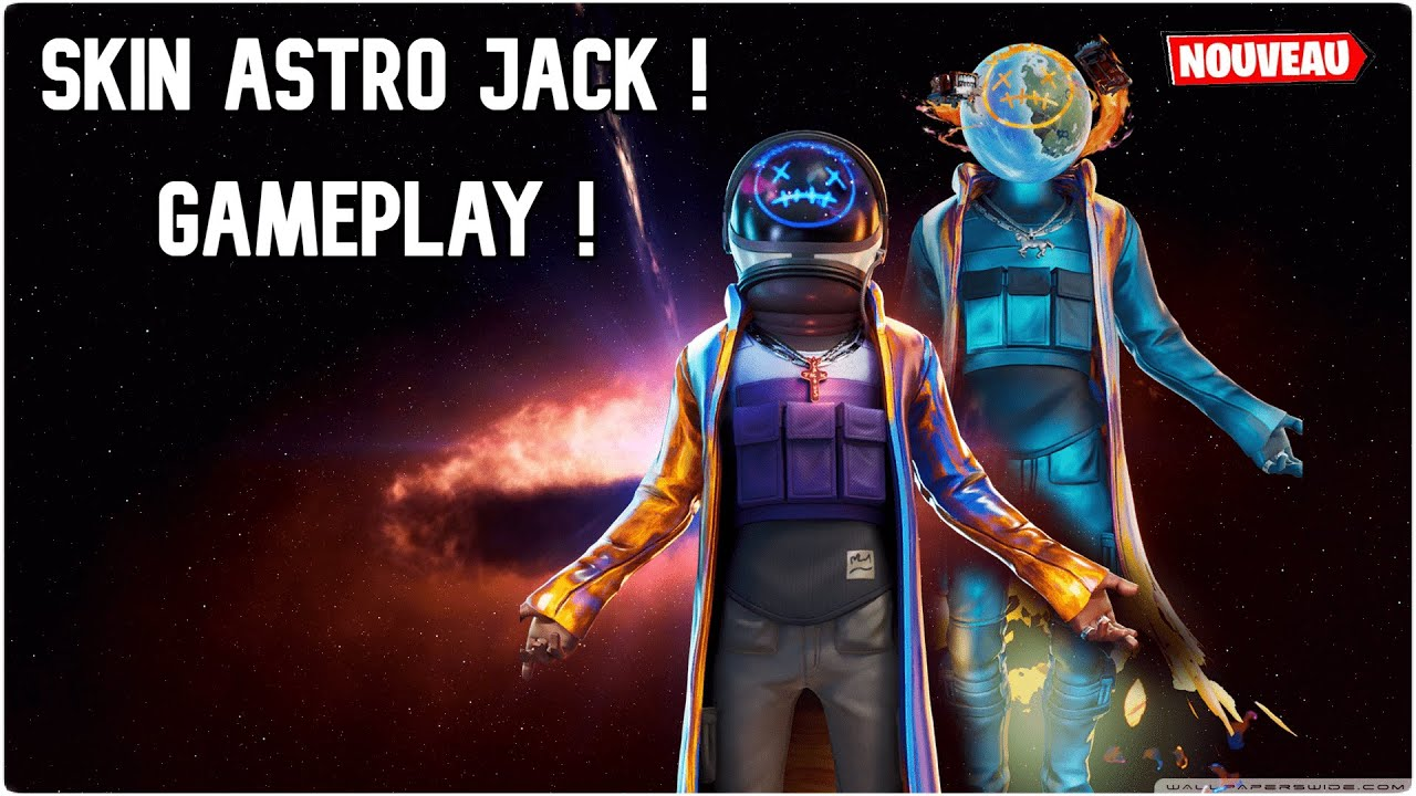 Gameplay New Skin Astro Jack In Game Sur Fortnite 2 Styles Youtube