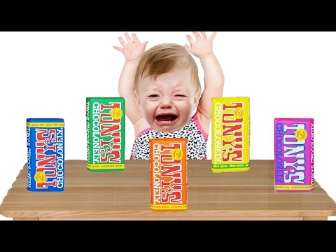 Thumbnail: Bad Baby Crying and Learn Colors with Colored Chocolate Bars Peppa Pig Finger Family Song Collection
