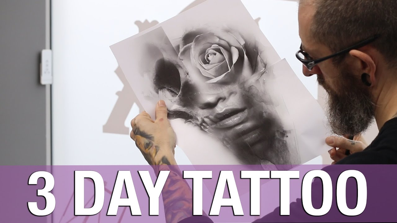 Jason butcher epic 3 day death romantic tattoo youtube for Jason butcher tattoo flash