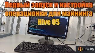 Первый Запуск и Настройка операционки для майнинга Hive OS | Ферма 1060 3gb | Хайв ОС