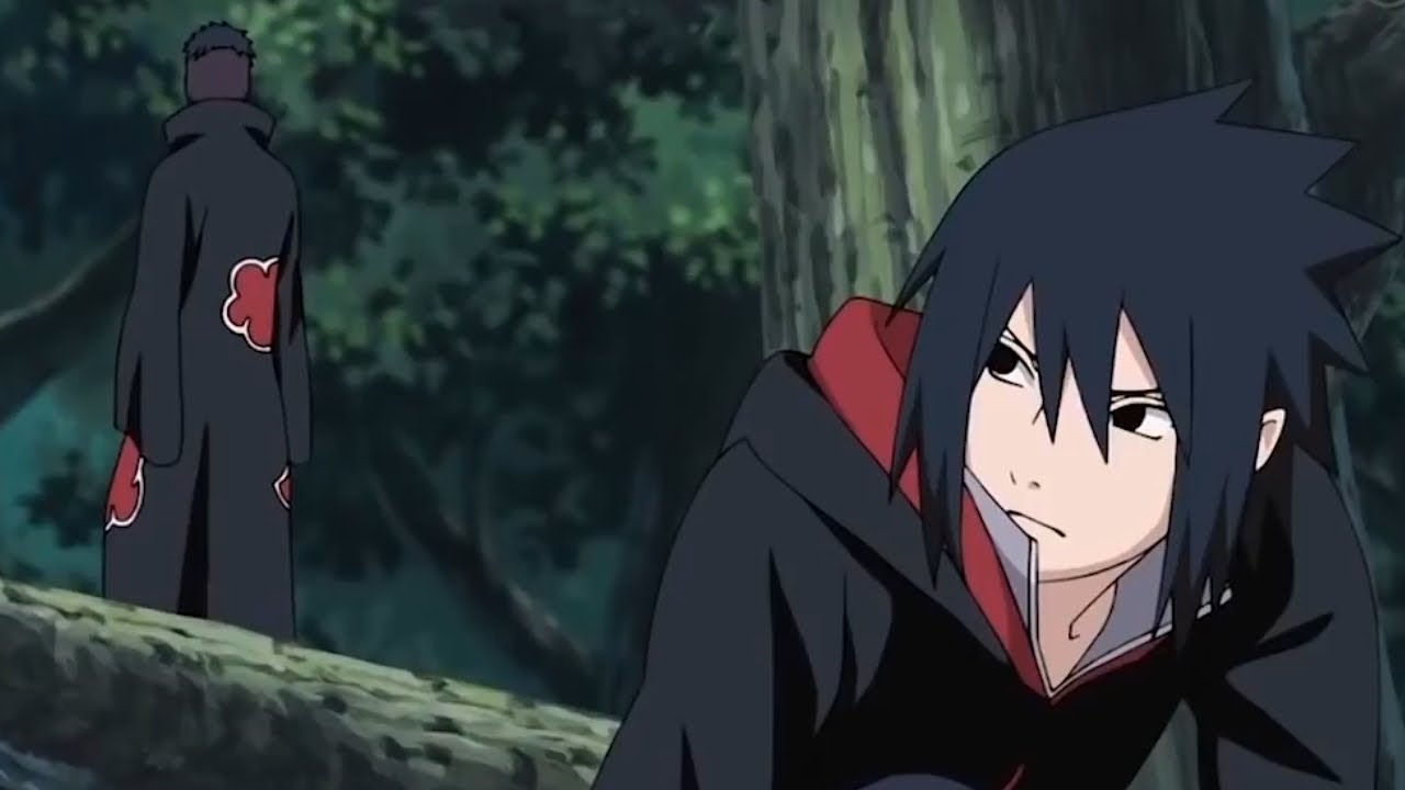 sasuke leaves akatsuki but tobi forced tobi told sasuke