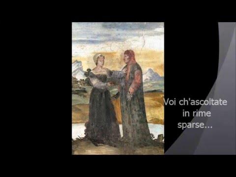 """Francesco Petrarca :.""""""""VOI CH'ASCOLTATE IN RIME SPARSE IL SUONO..."""""""