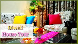 DIWALI HOUSE TOUR || Small Indian House Budget Friendly Diwali Decor || DIY Lights Decor Ideas