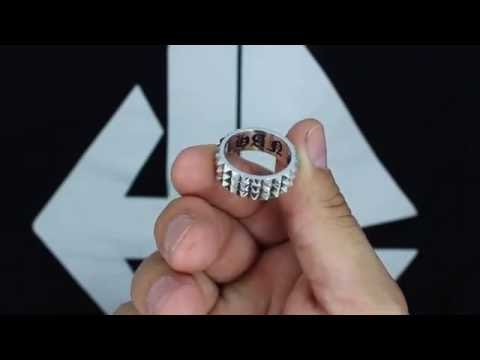 3 Row Spike Ring | Han Cholo Jewelry | Precious Metals