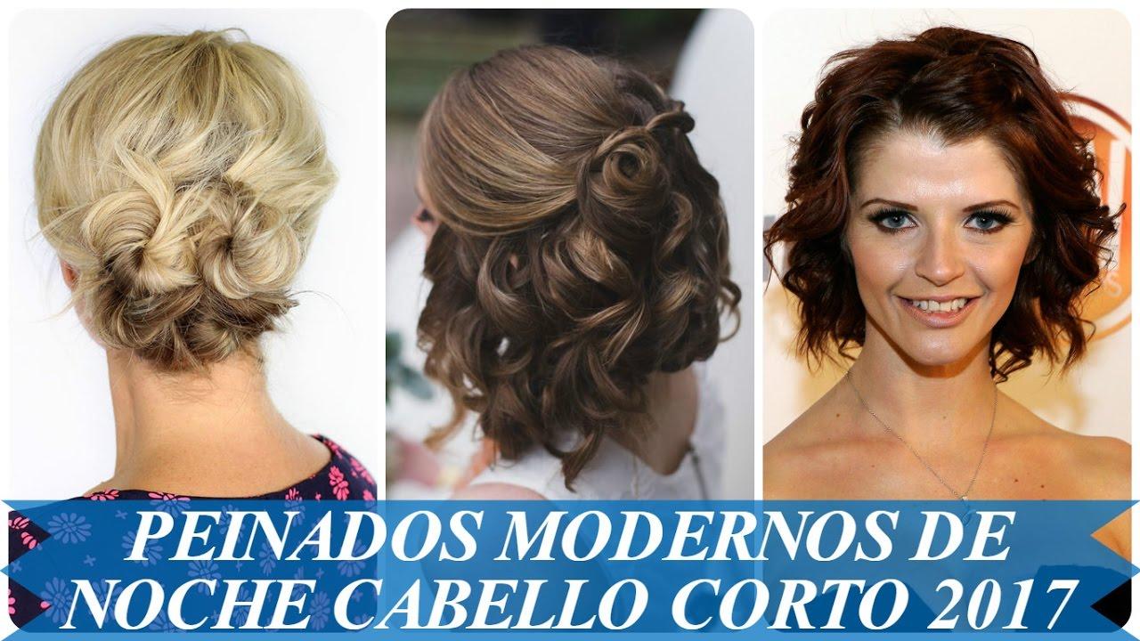 peinados modernos de noche cabello corto