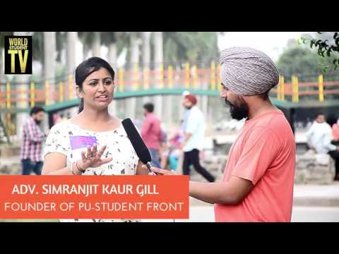 ADV. SIMRANJIT KAUR GILL | FOUNDER OF PU-STUDENT FRONT | INTERVIEW |PU ELECTION | WORLD STUDENT TV