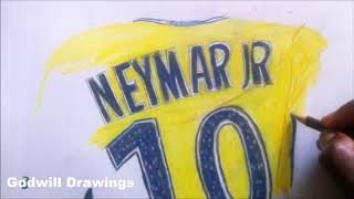 Drawing Neymar jr Psg- Godwill Drawings