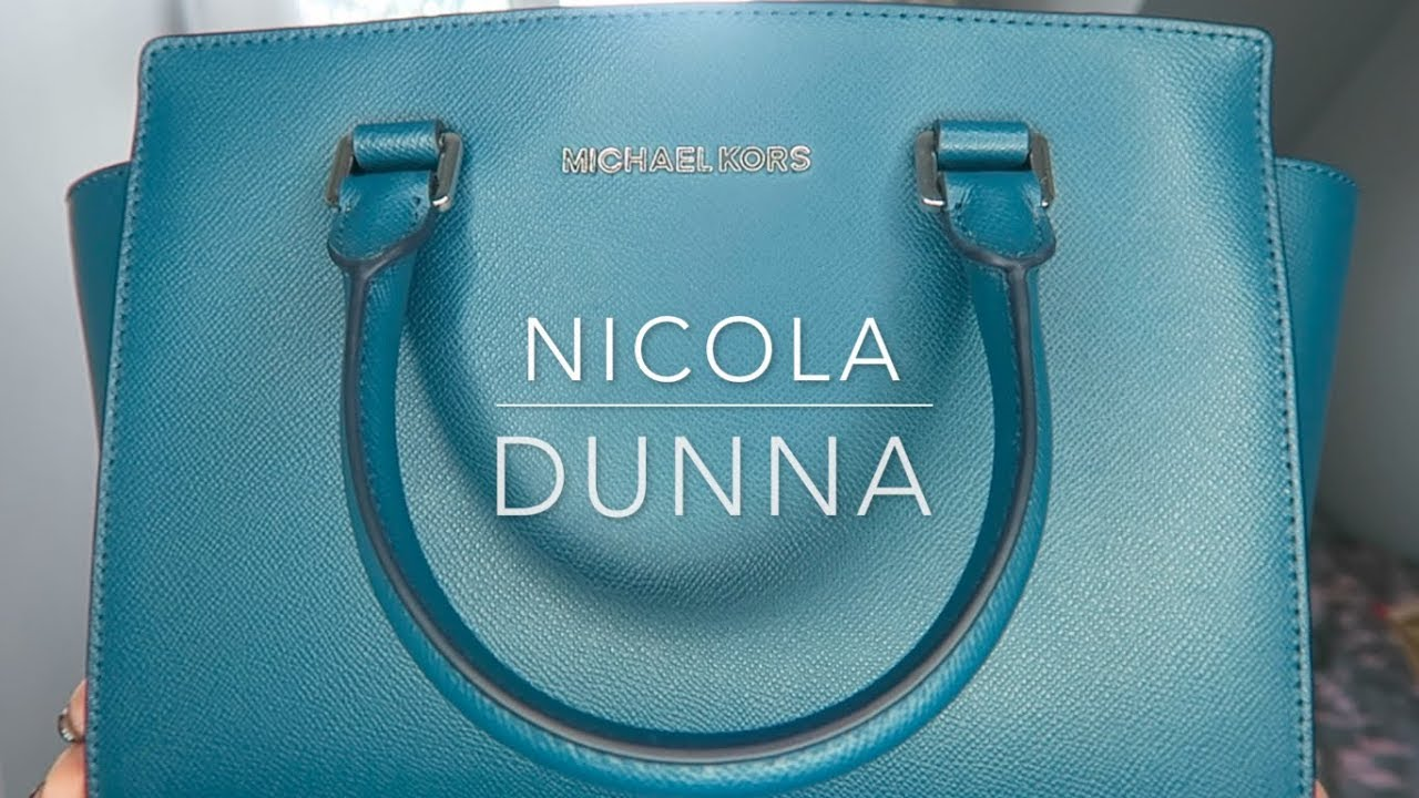 3b9b95dd4d32dc Look Through My New Michael Kors Selma Medium Saffiano Leather Satchel Teal  | Nicola Dunna