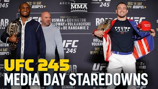 UFC 245 Media Day Staredowns - MMA Fighting