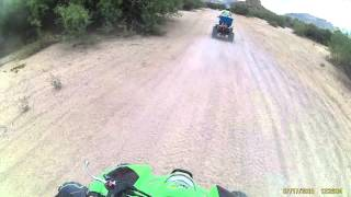 Desiree Riding Atv .. Bulldog Canyon A.z.