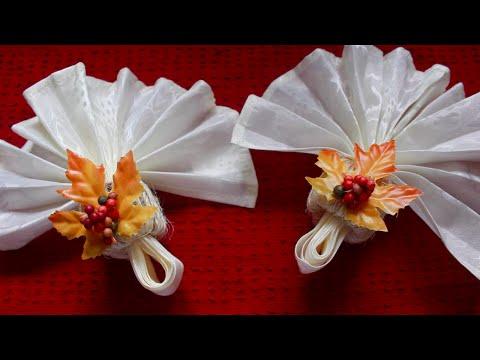 DIY: Fall Leaves napkin rings